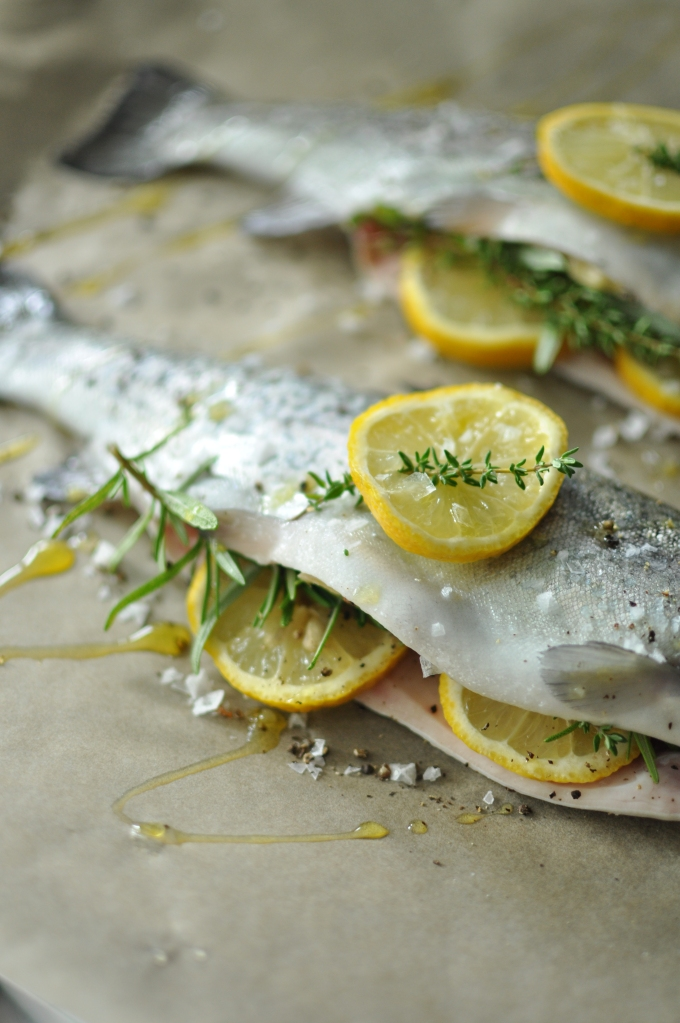 Passports & Pamplemousse Baked Whole Trout
