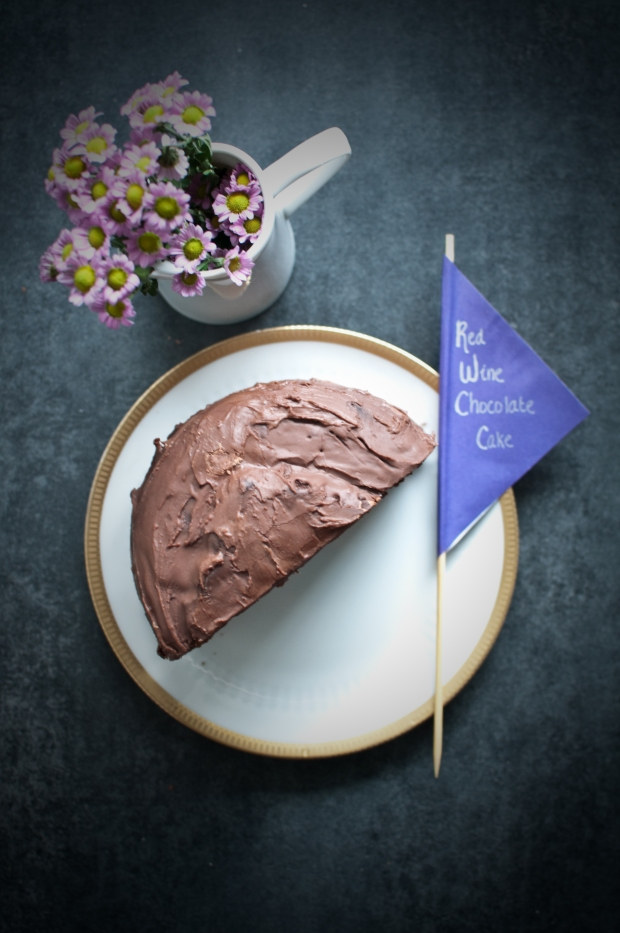 Passports and Pamplemousse Red Wine Chocolate Cake