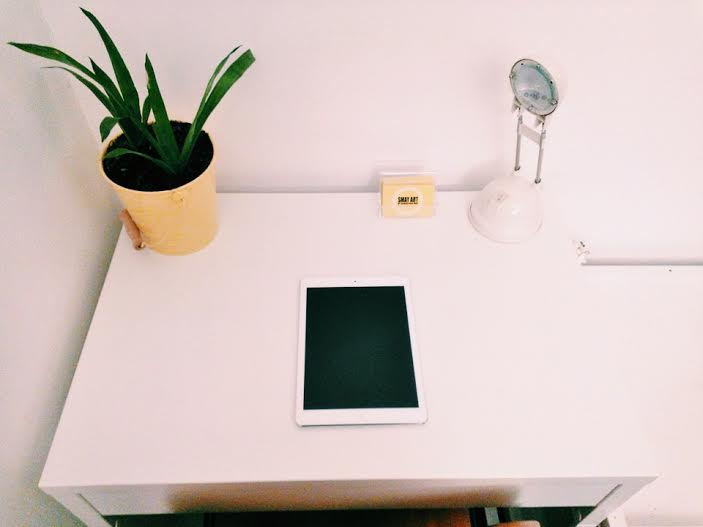 """My little creative corner to sketch and brainstorm ideas. I think every flat needs one."" Sebastian May"
