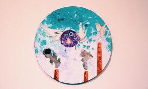 'Nosebird escapes' - mixed media on canvas, 2013 by Sebastian May