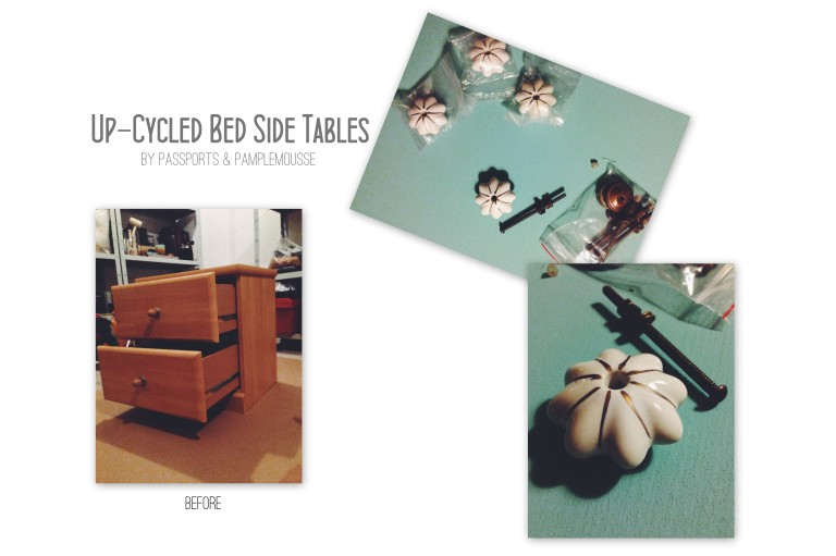 Passports and Pamplemousse Up Cycled side table
